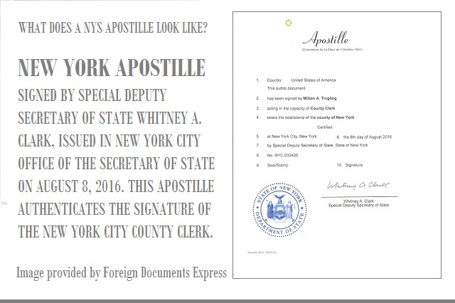 new york hague apostille