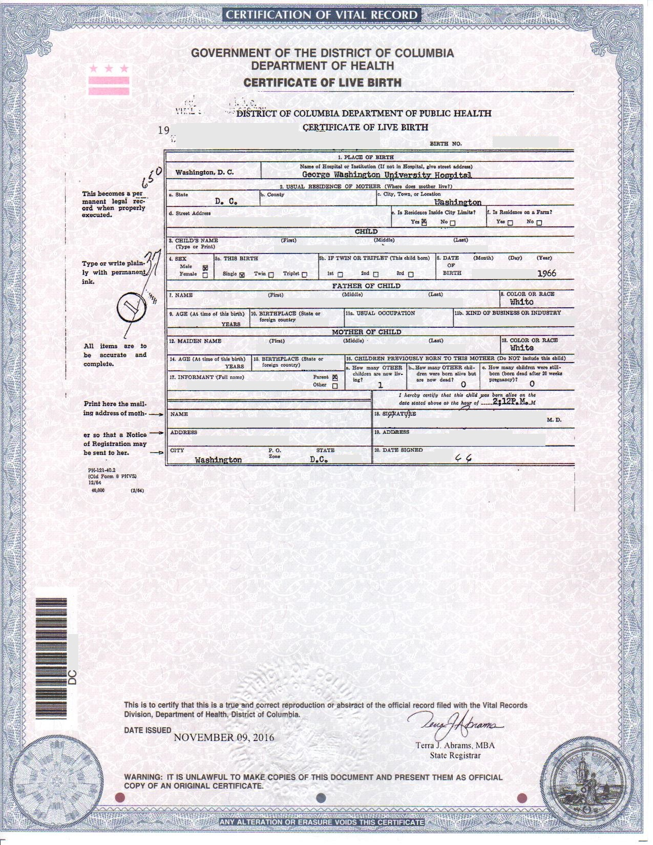 Dc birth certificates for foreign use step 1 is your birth certificate eligible aiddatafo Gallery