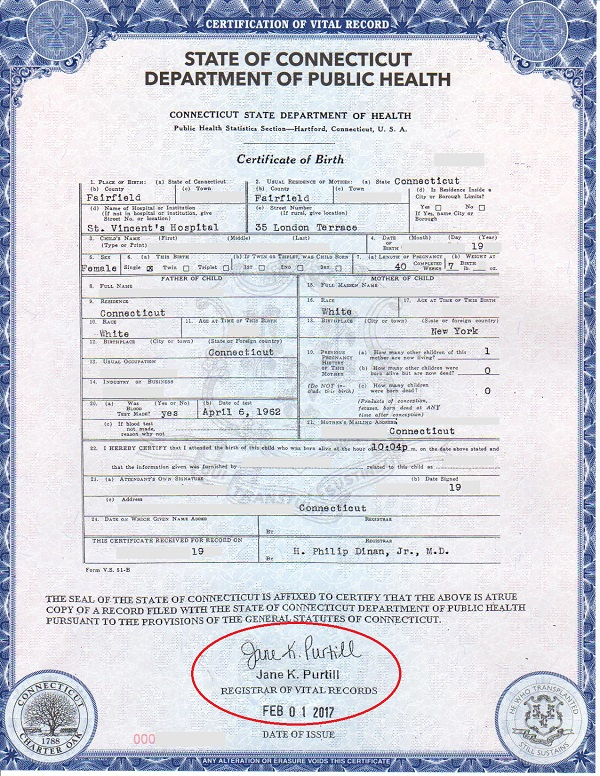 birth certificate connecticut eligible for apostille 2017