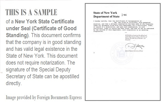 Certificate of good standing from new york good standing certificate new york yadclub Gallery