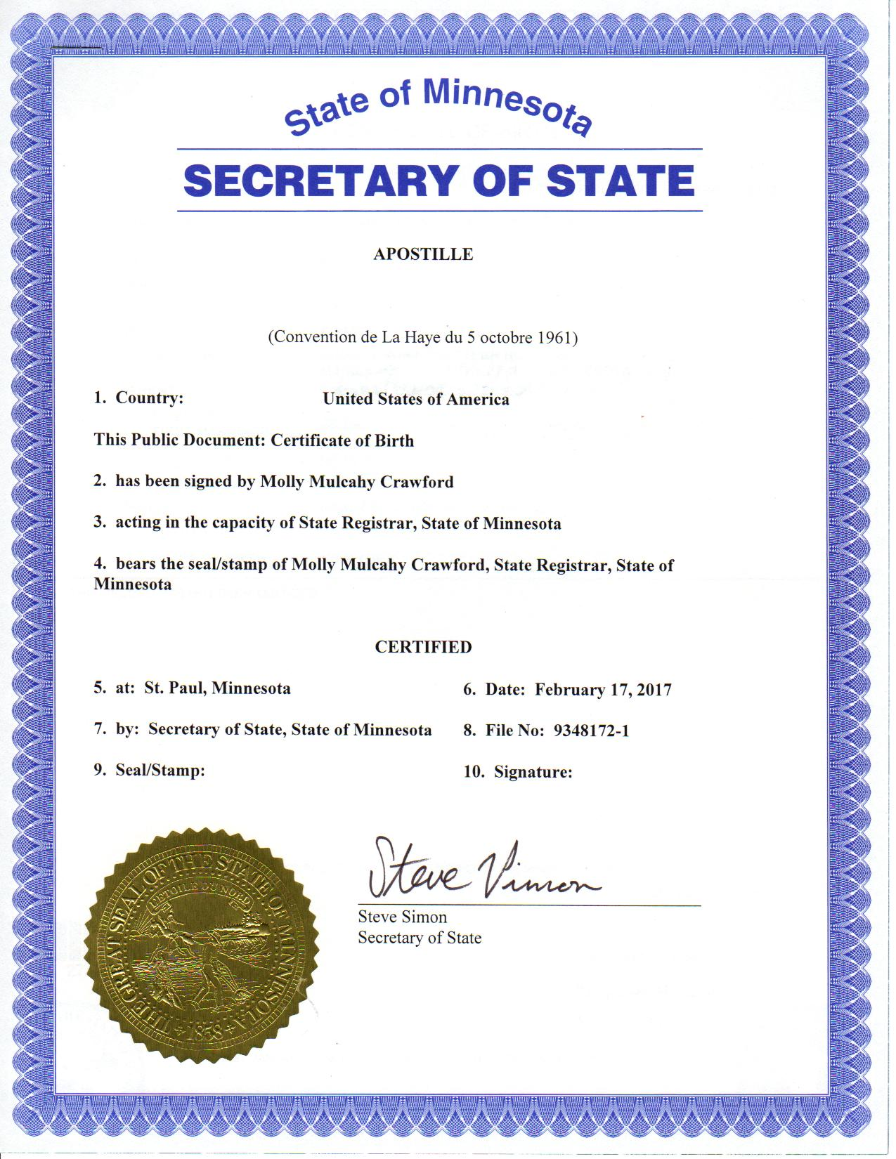 What does a minnesota apostille look like 1betcityfo Choice Image
