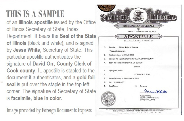 What does an Illinois apostille look like?