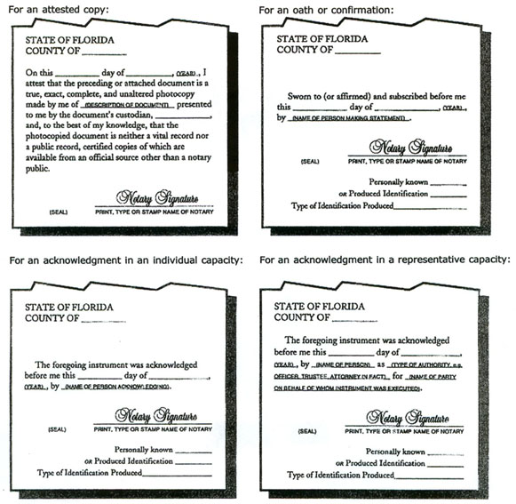 Apostille requirements for a notarized document (Florida)
